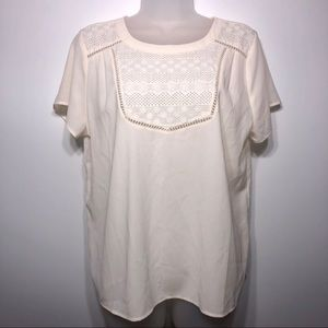 Monteau NWT Embroidered Top Size XL